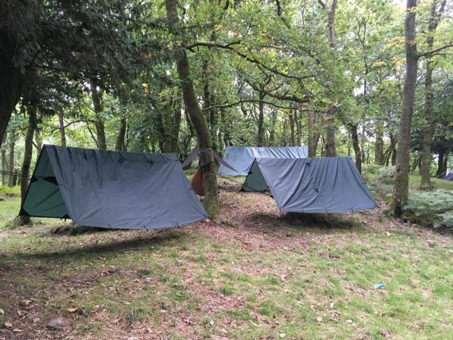 Northumberland Scouts take part in Camp@Home.