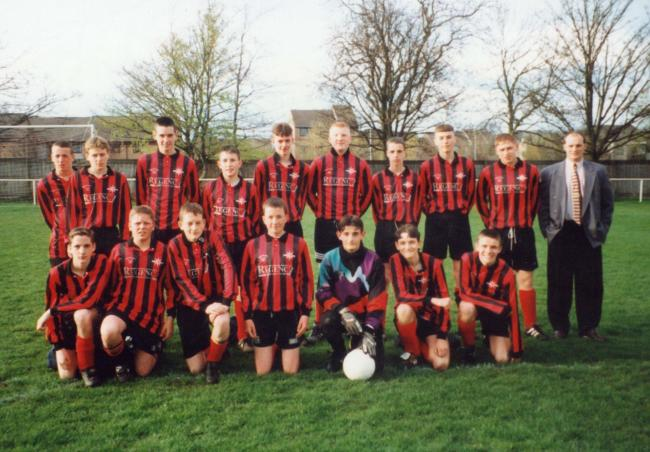The Prudhoe U15 Youth Football, pictured in 1996.