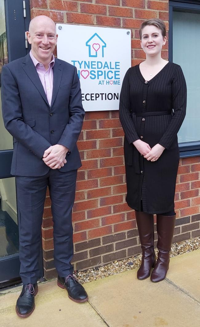 Tynedale Hospice at Home chief executive Mike Thornicroft and head of income generation Charlotte Pearson.