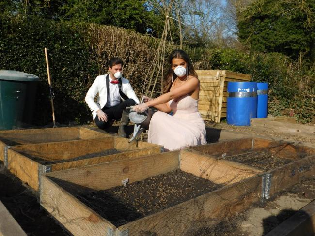 Tessa Morton captured sister Harriet and boyfriend Maxi Tordoff at the allotments in Ovingham.