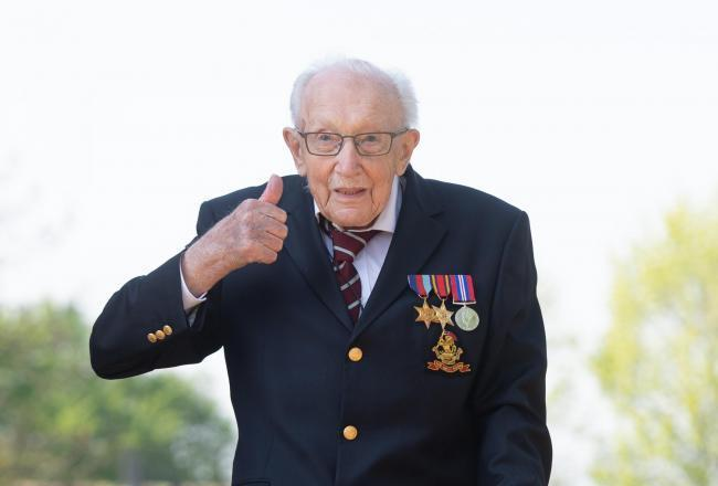 Captain Tom Moore turns 100.