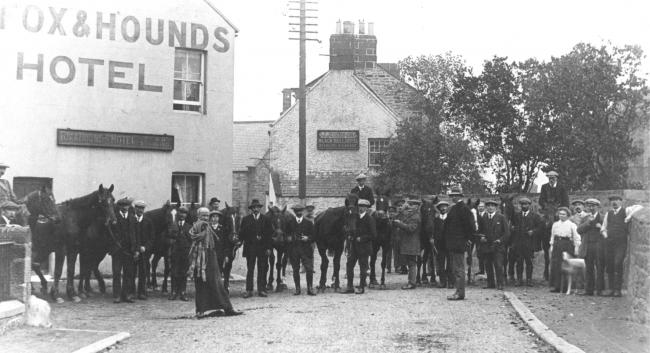 Old images attached will feature in a new dvd being released called Hexham - A Nostalgic Feast. Owners with horses commandeered for War front at Bellingham 1916 50073994H015..jpg