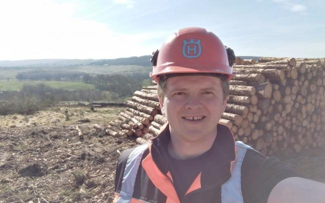 Alistair Burton, harvesting forester from Haydon Bridge, who works for Forestry England