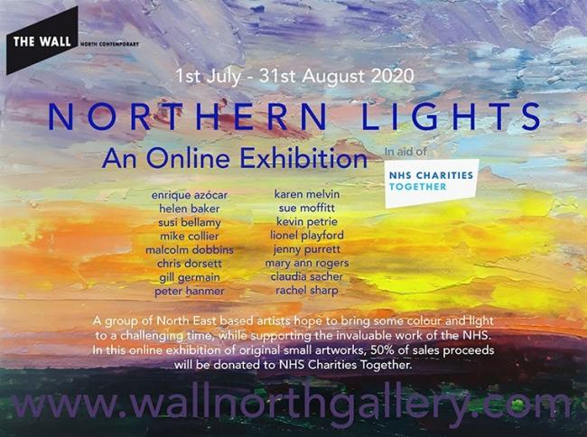 A poster for the Northern Lights art exhibition
