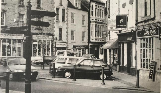 This image from 1995 shows where cars used to park in the busy Hexham Market Place.