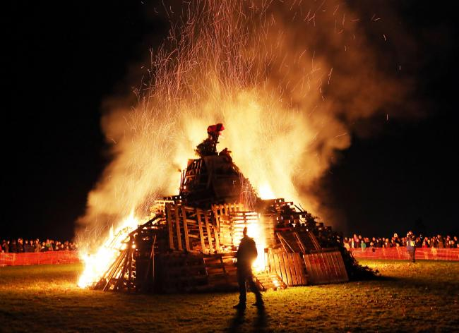 Hexham Round Table's bonfire and firework display, on the Sele at Hexham, last year.  Photo: Paul Norris.