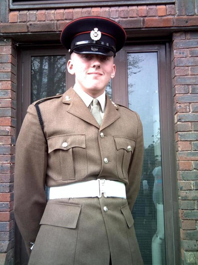 Stu Sim completed his basic training to become a Royal Engineer after leaving school.