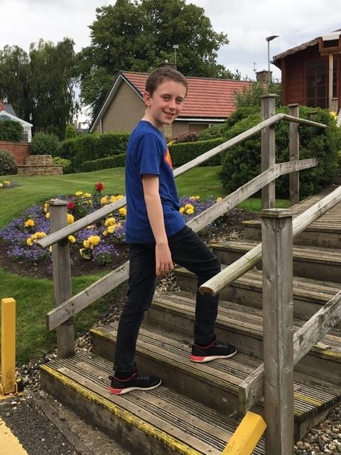Ethan Thompson is climbing the height of Mount Everest on stairs to raise money for the Charlotte Straker Project.