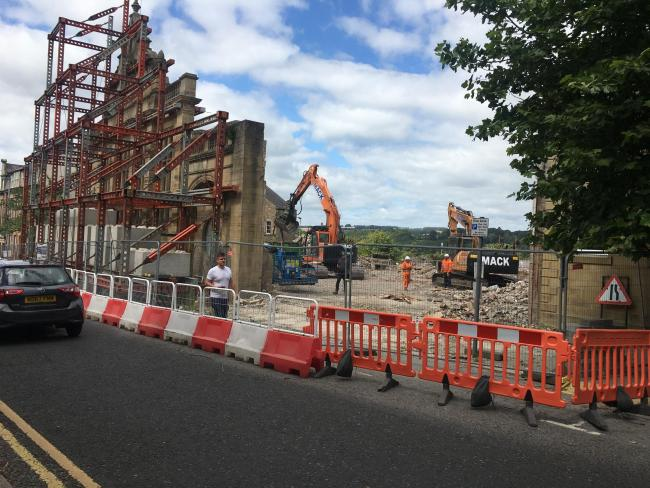 Demolition work at Hexham's old swimming pool is almost complete.