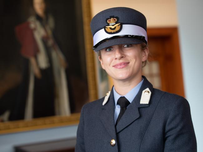 Flying Officer Sarah McGhee, of Prudhoe, graduated from the RAF College, in Cranwell. 											           Photo: PAUL SAXBY