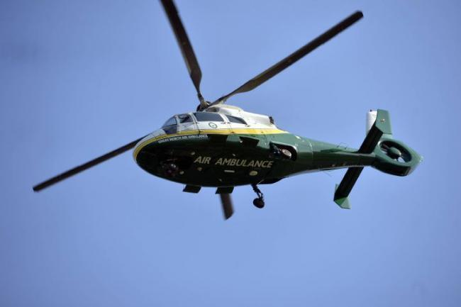 The air ambulance was on the scene of an incident in Prudhoe.
