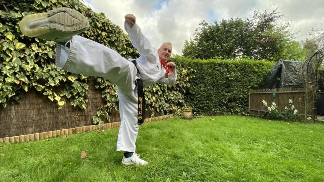 Hexham's Stephen Robinson won a silver medal in a world Taekwon-Do championship.