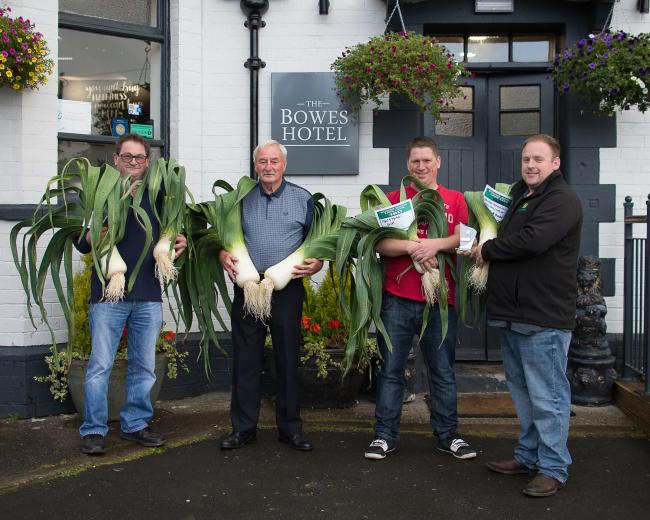 From left, Geoff Dodd, Kenneth Makepeace, Mick Dodd and Paul Dodd, at the Bowes Hotel Leek Show in Bardon Mill.
