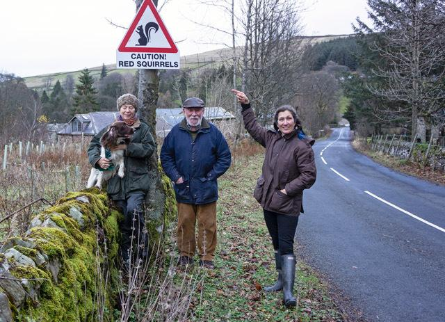 Allenheads residents (from left to right) Fiona Johnson, Bill Jackson and Janine Swindale