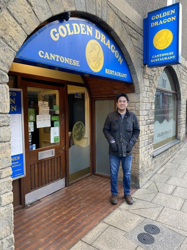 Former Golden Dragon owner Wil Cheung outside the restaurant.