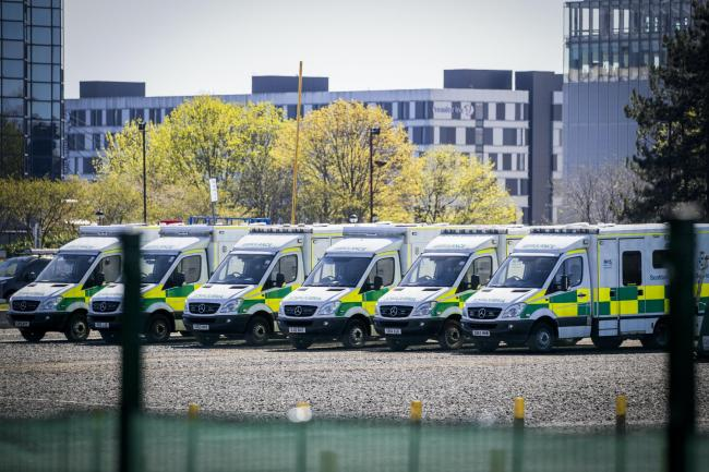 Row of ambulances