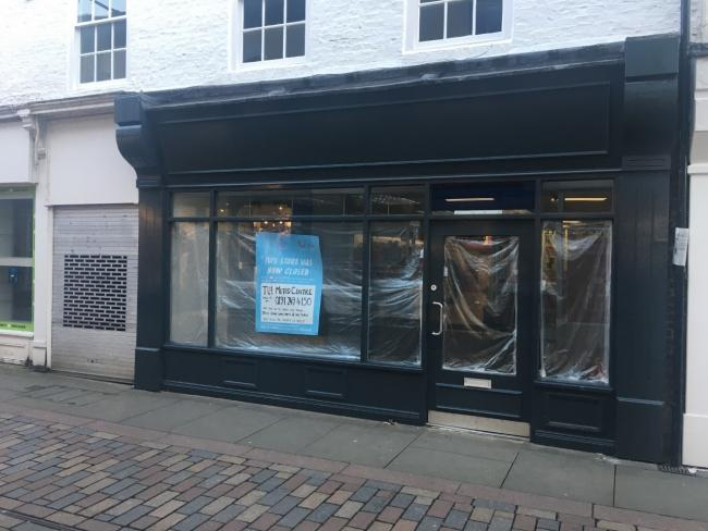 The closed Tui shop on Fore Street, Hexham