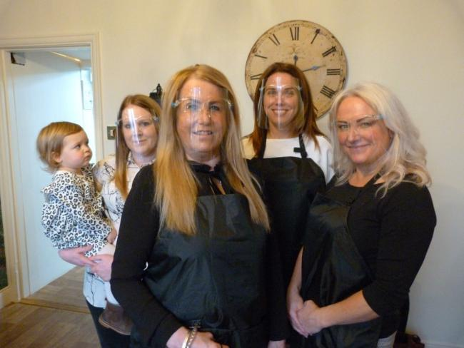 From L-R:Savannah, Shannon and Beverley Ridley, Joanne Pearson and Sam Cheesman.