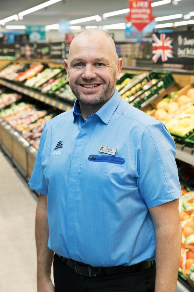 Kraig Broadhead is the store manager at the Aldi store in Prudhoe.