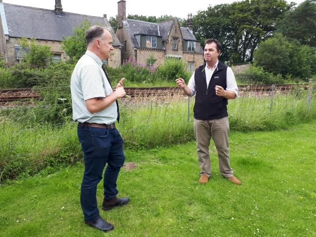Guy Opperman MP with Neil Hudson MP at Gilsland during a visit last summer.