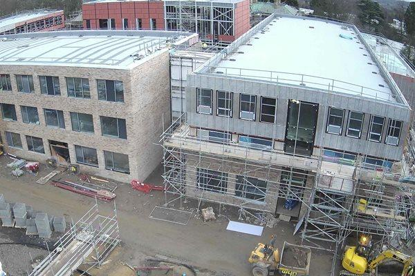 Progress made to the school buildings at Hexham.