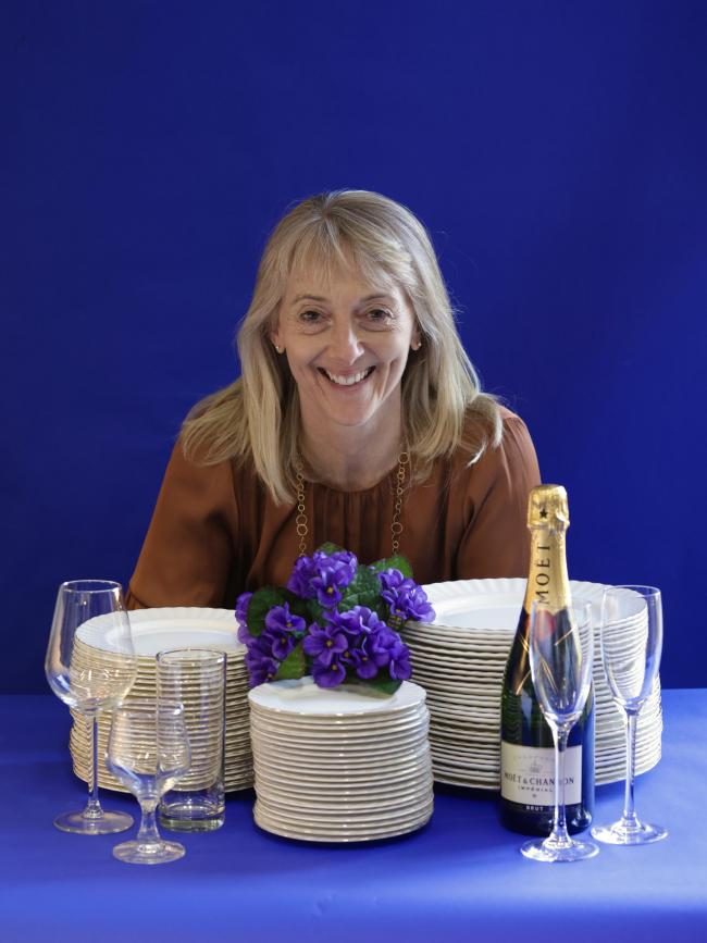 Sue Bell, who has started Violet's Quality Tableware Hire.