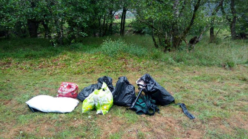 Rubbish left by visitors at Briarwood nature reserve near Bardon Mill. Submitted pic. Wednesday 29th August 2018.