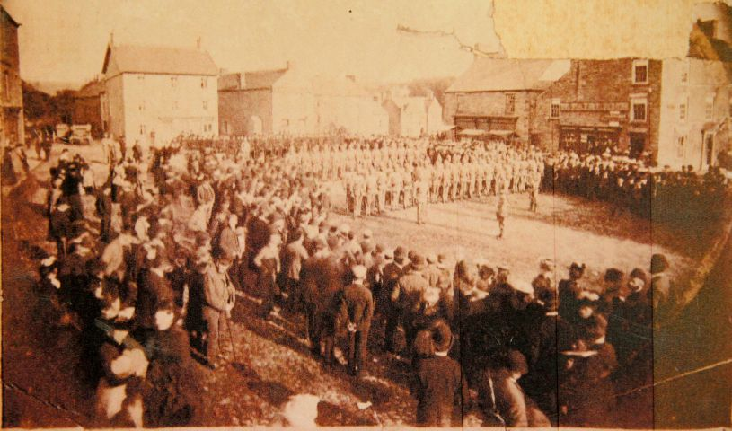 This photo offers a fascinating view of Allendale's Market Place, during a formal ceremony in the 1880s.
