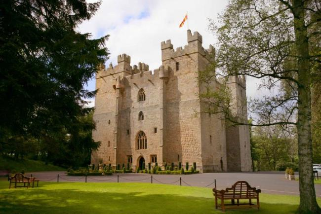 Langley Castle has been named as the most romantic hotel in the country.