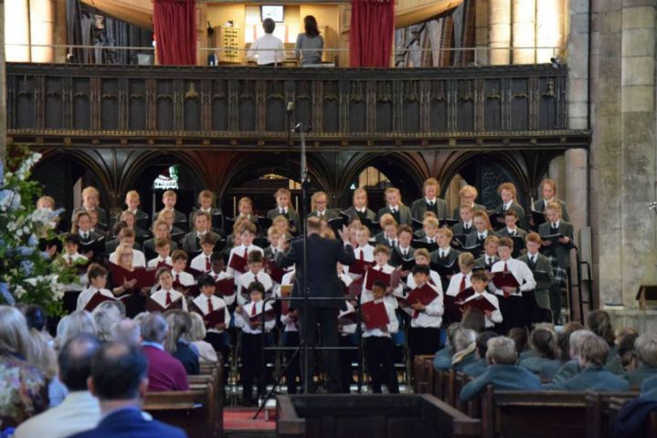 The choirs of Mowden Hall and Cothill House at Hexham Abbey in 2015.