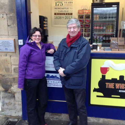 Tyne Valley Community Rail Officers, John Gillot and Fiona Forsythe.
