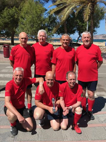 The Wentworth Wanderers walking football team, based at Hexham's Wentworth Leisure Centre.