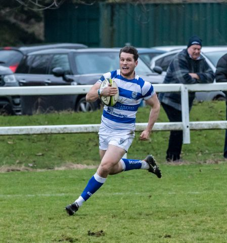 Guy Pike scored Tynedale's second try in the last minute of the game against Sale.