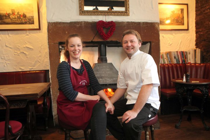 Helen Greer and Rhian Cradock from The Feathers Inn.