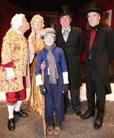 Crowd-pleasing: Leading cast members in  Riding Mill's production of A Christmas Carol.