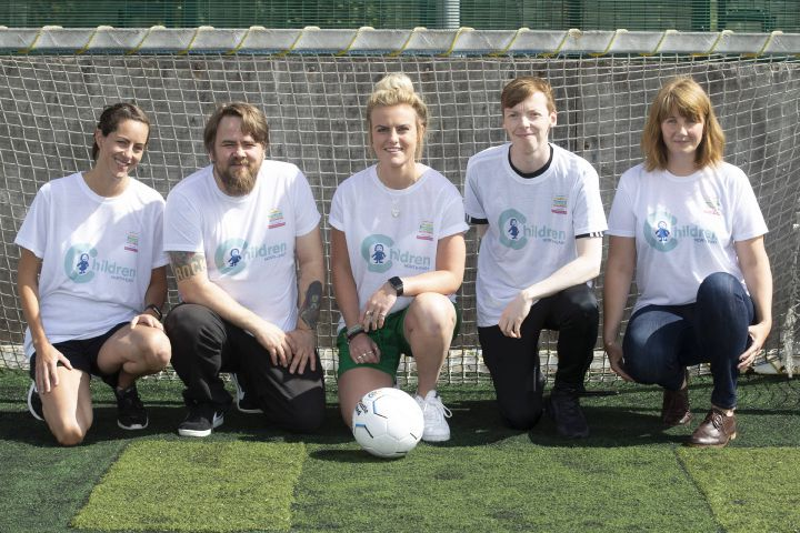 Rebecca George (centre) will captain the Children North-East team in the Concept Cup.