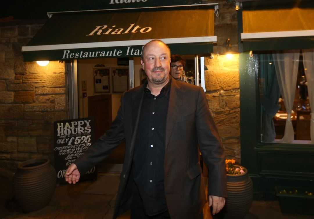 Newcastle manager, Rafa Benitez, outside Rialto restaurant. Photo: ChronicleLive