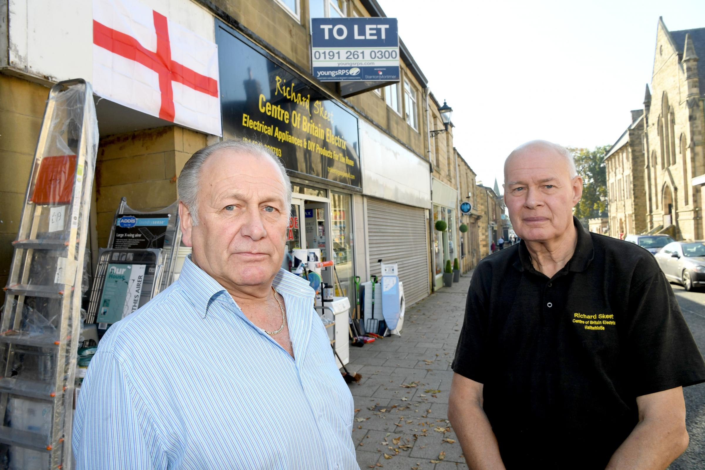 County councillor Ian Hutchinson and businessman Richard Skeet, pictured on Westgate. Photo: HX421859