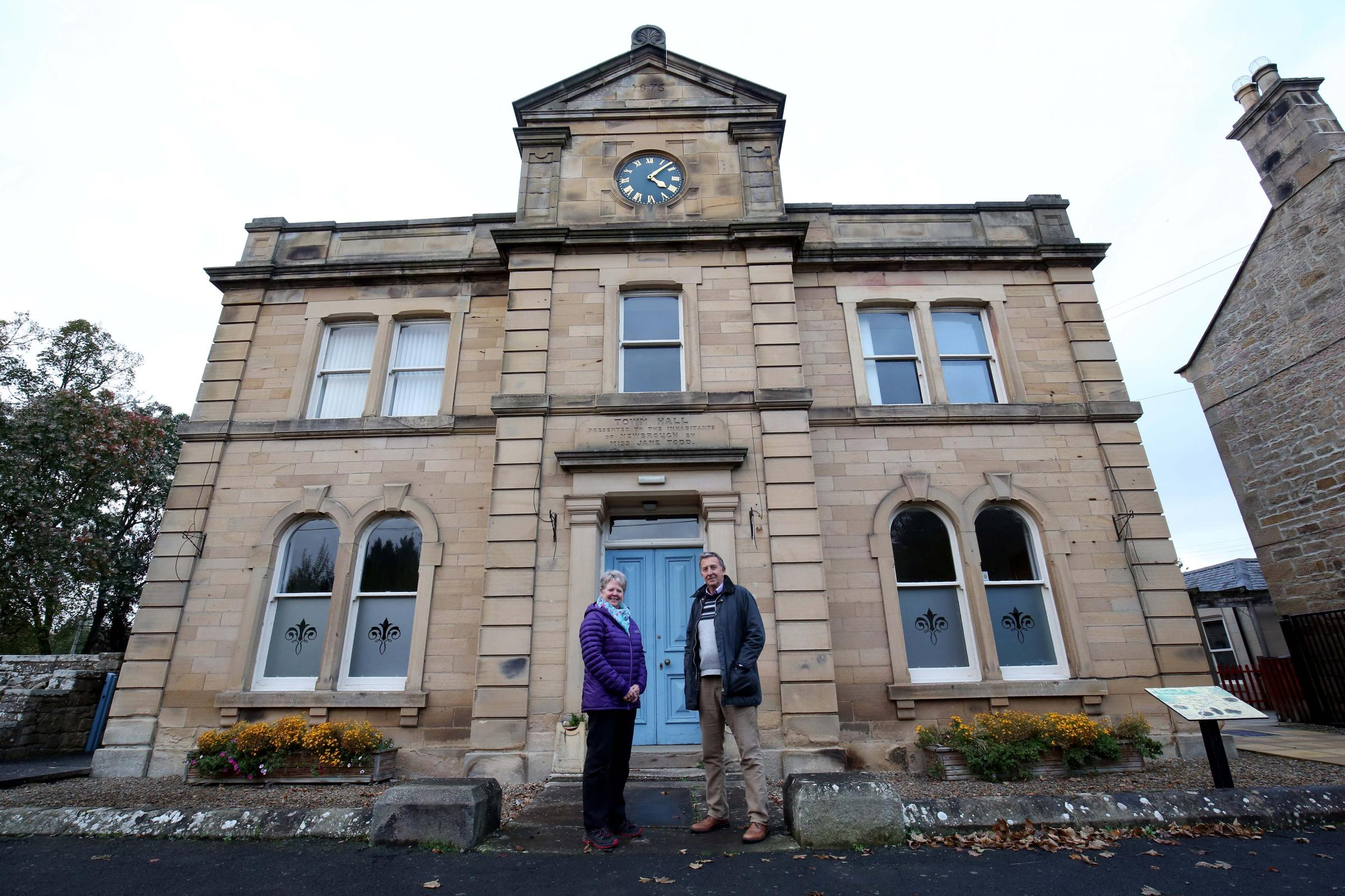 Committee members Elaine Arkless and Dave Spearman at Newbrough Town Hall.	            Photo: PAUL NORRIS