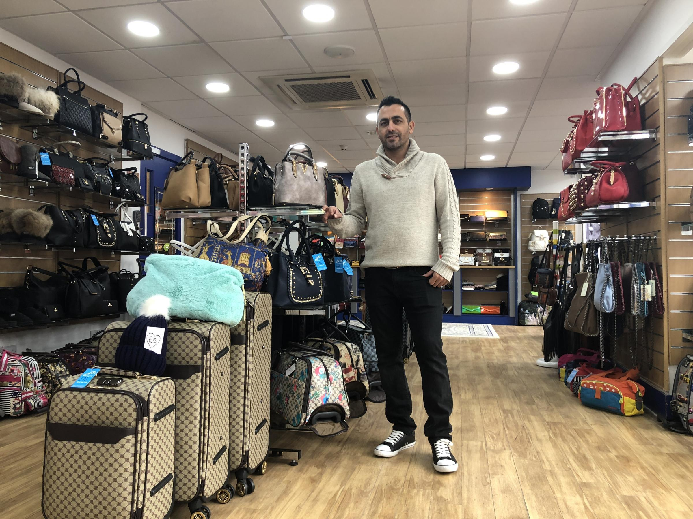 Ibo Metin at Ginos Accessories which has opened on Market Place in Hexham.