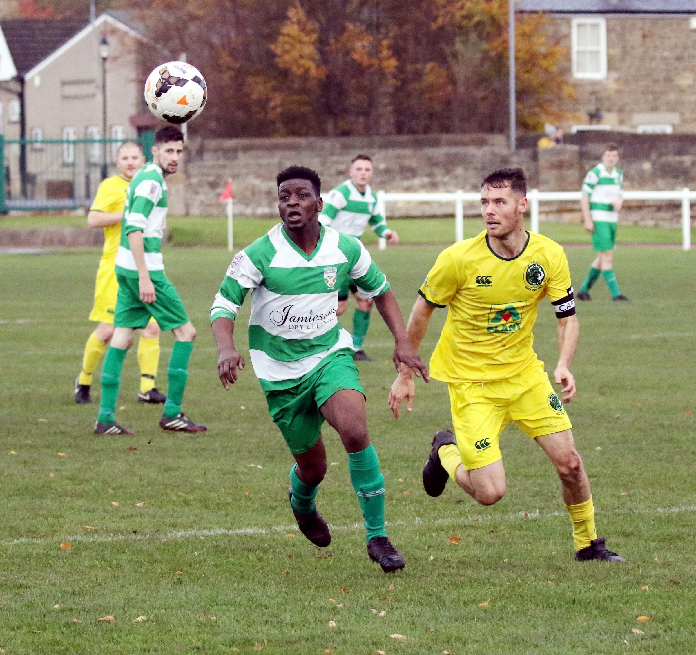Hexham's Dylan Mabunu scored a hat-trick against Wallsend Community. Photo: PAUL NORRIS
