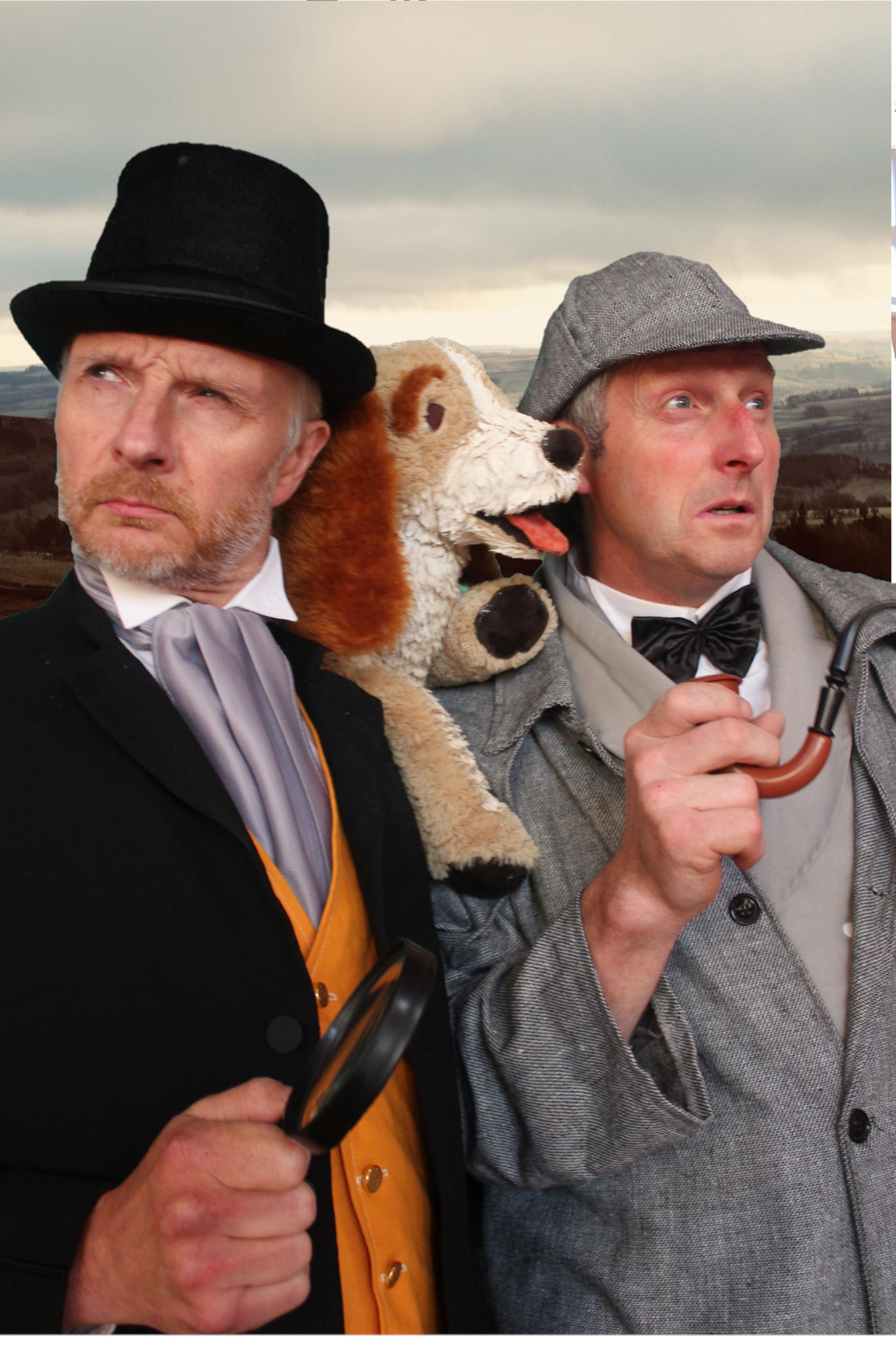 The Queen's Hall Theatre Club actors David Nixon as Sherlock Holmes and Robin Jowett as Doctor Watson, who will be taking the stage this month in a performance of The Hound of the Baskervilles.
