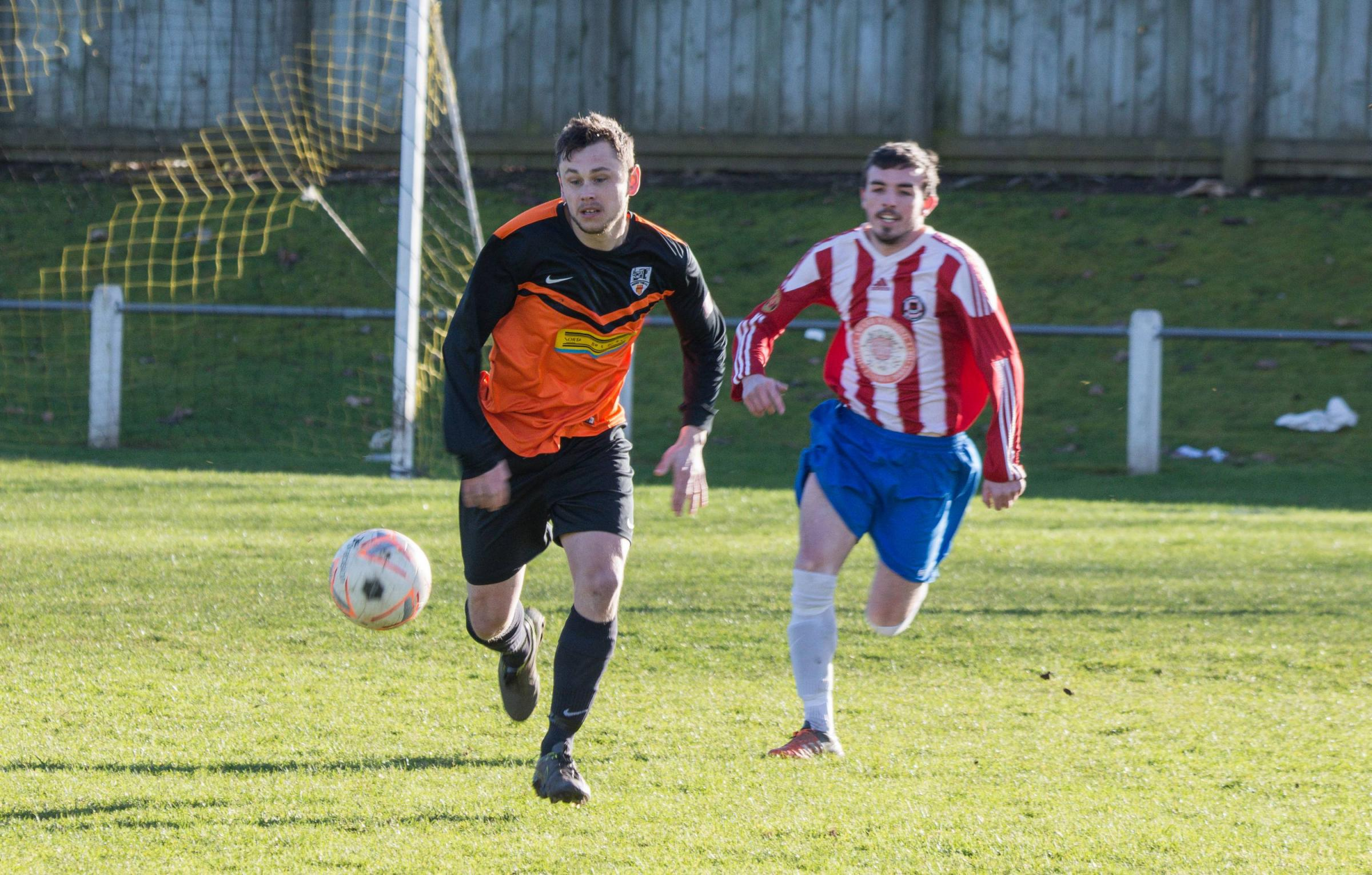 Ste Forster scored a hat-trick for Prudhoe Town.