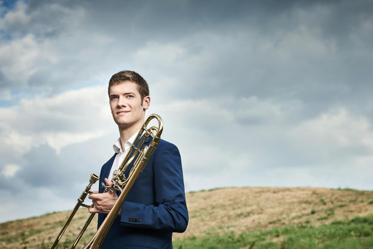 Trombonist Peter Moore, who is performing at the Queen's Hall on Thursday.