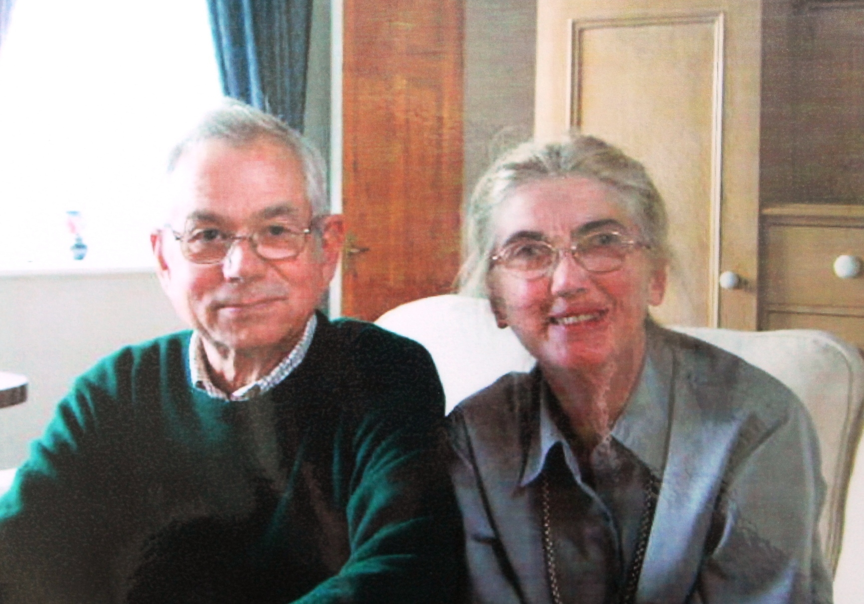 Rex Cooper from Tarset with his wife Pat, who died in January 2018.