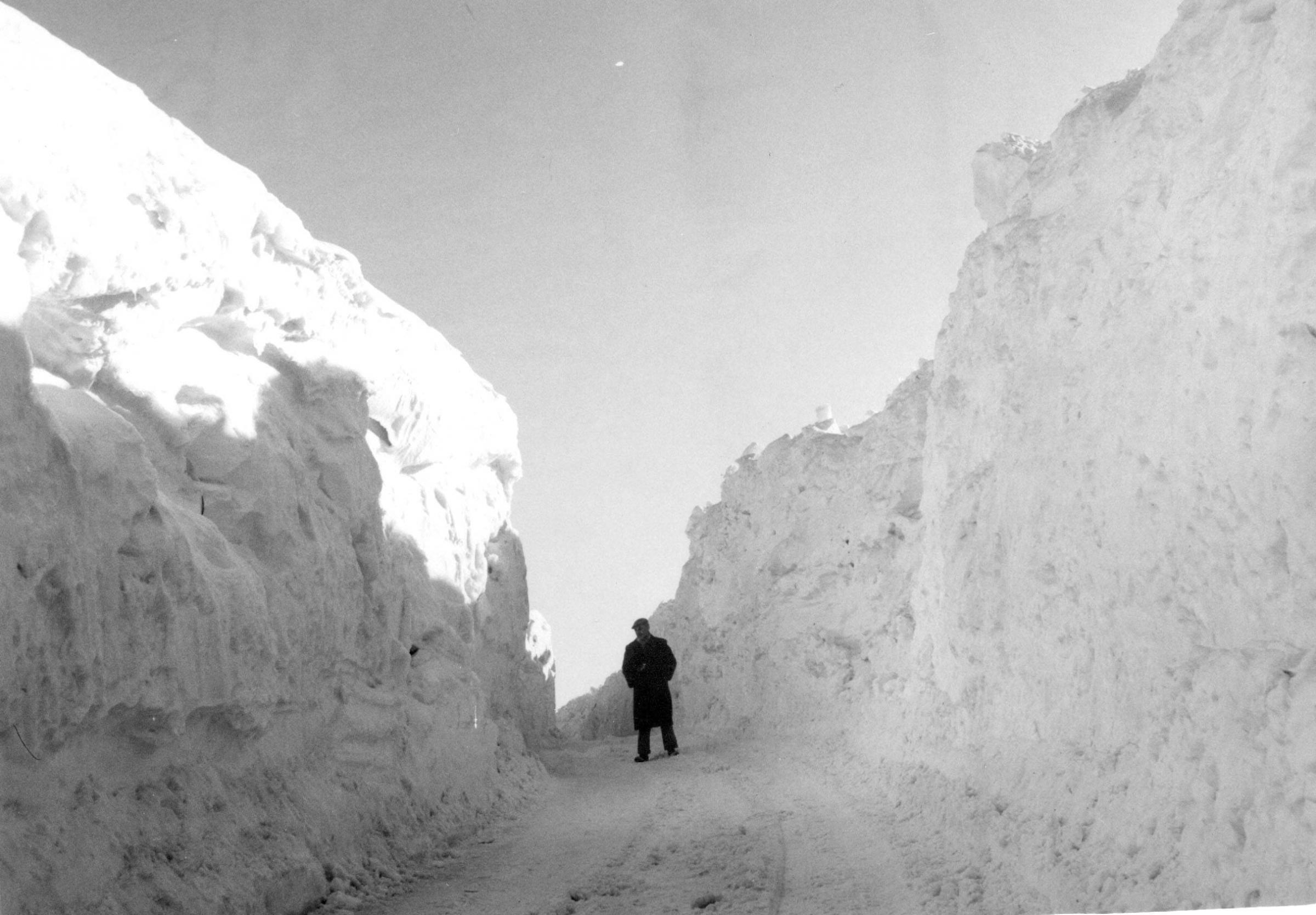 The winter of 1947 was one of the most severe in living memory and as this wintry scene shows, the Allen Valleys had more than its fair share of snow.