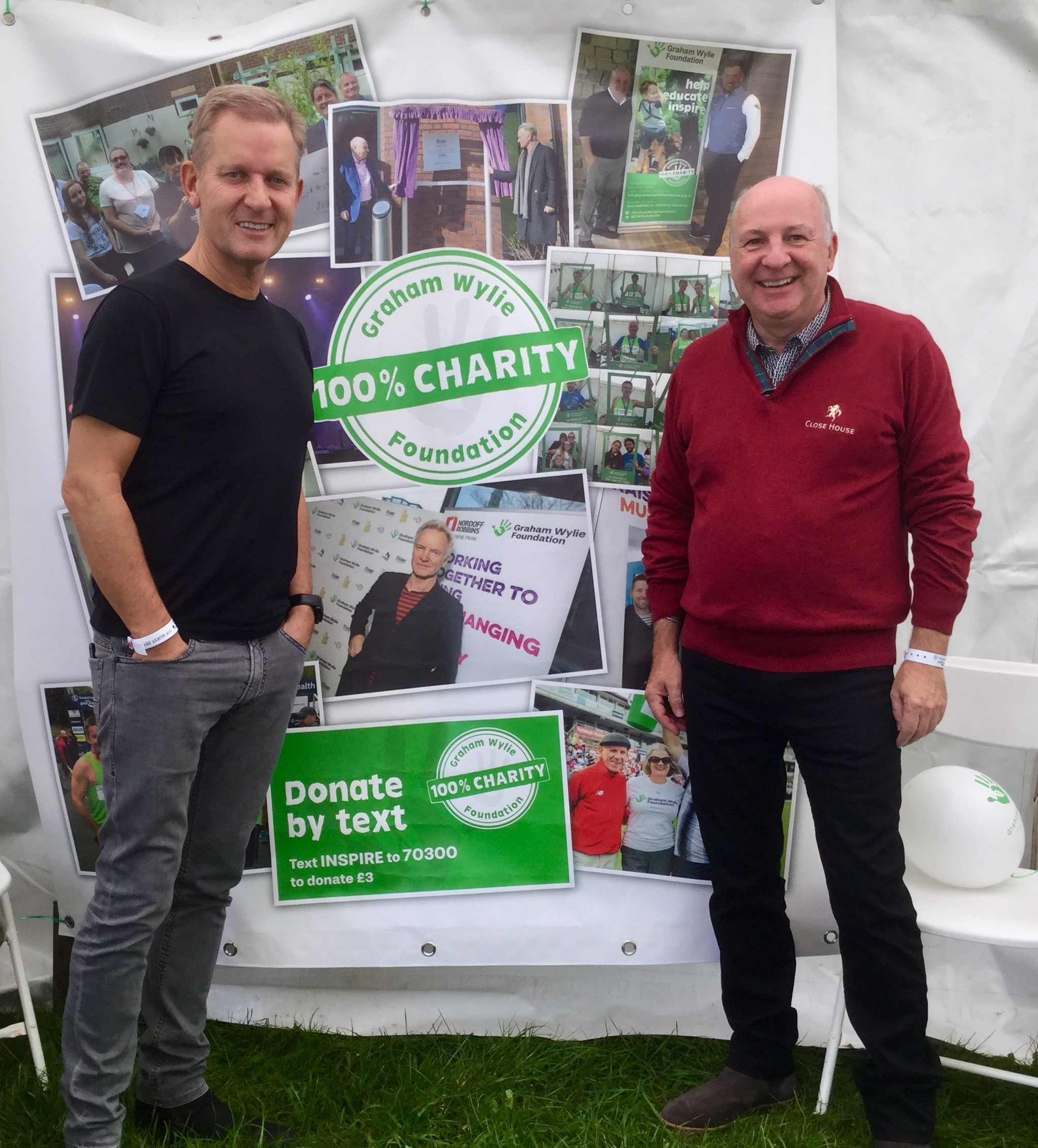 TV presenter Jeremy Kyle with businessman Graham Wylie.