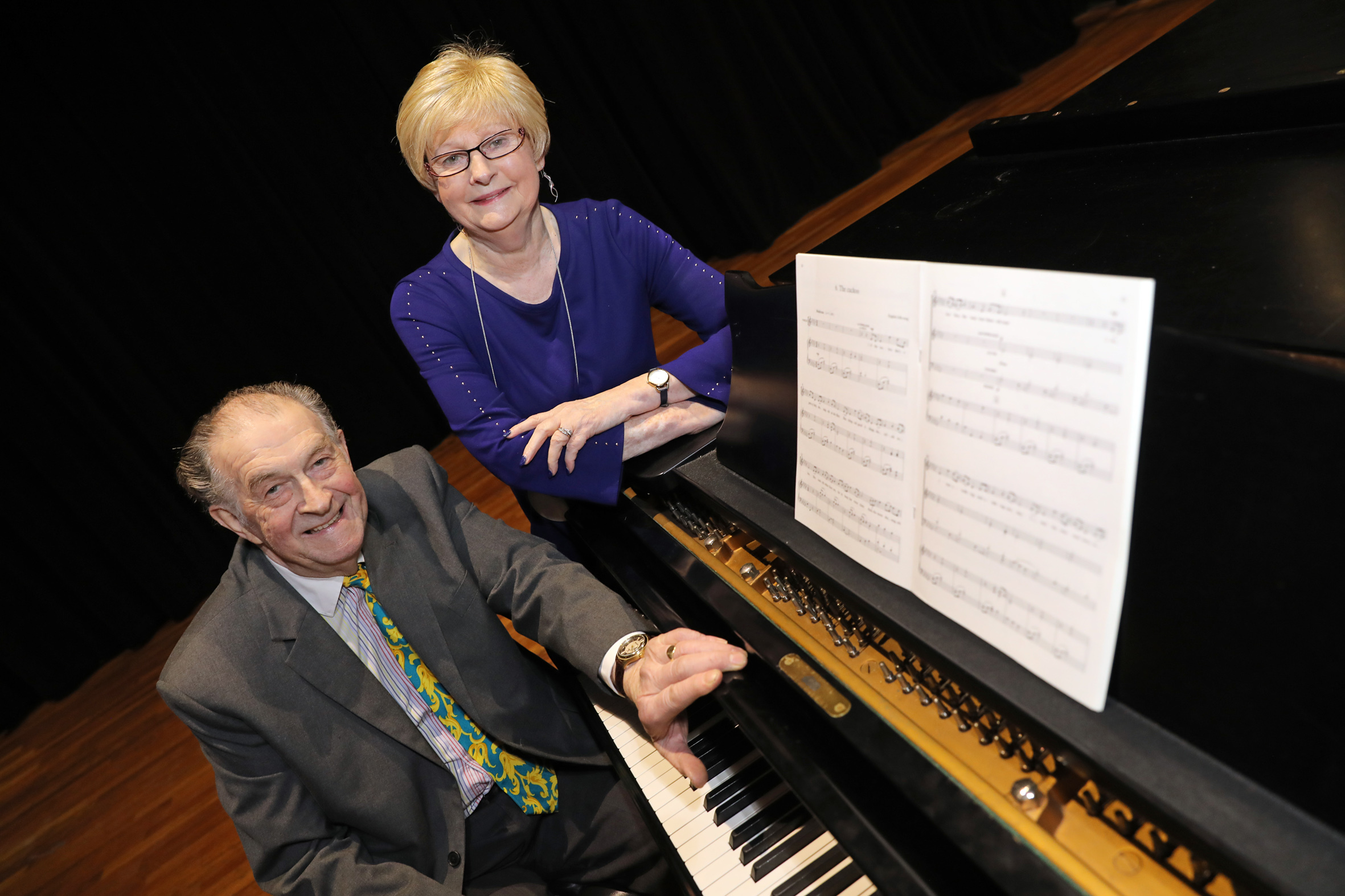Tynedale Music festival chairman, Douglas Knott, and secretary Hilary Robson, have fond memories of the annual event, which has had to be wound up due to lack of entries. 																				Photo: HELEN SMITH