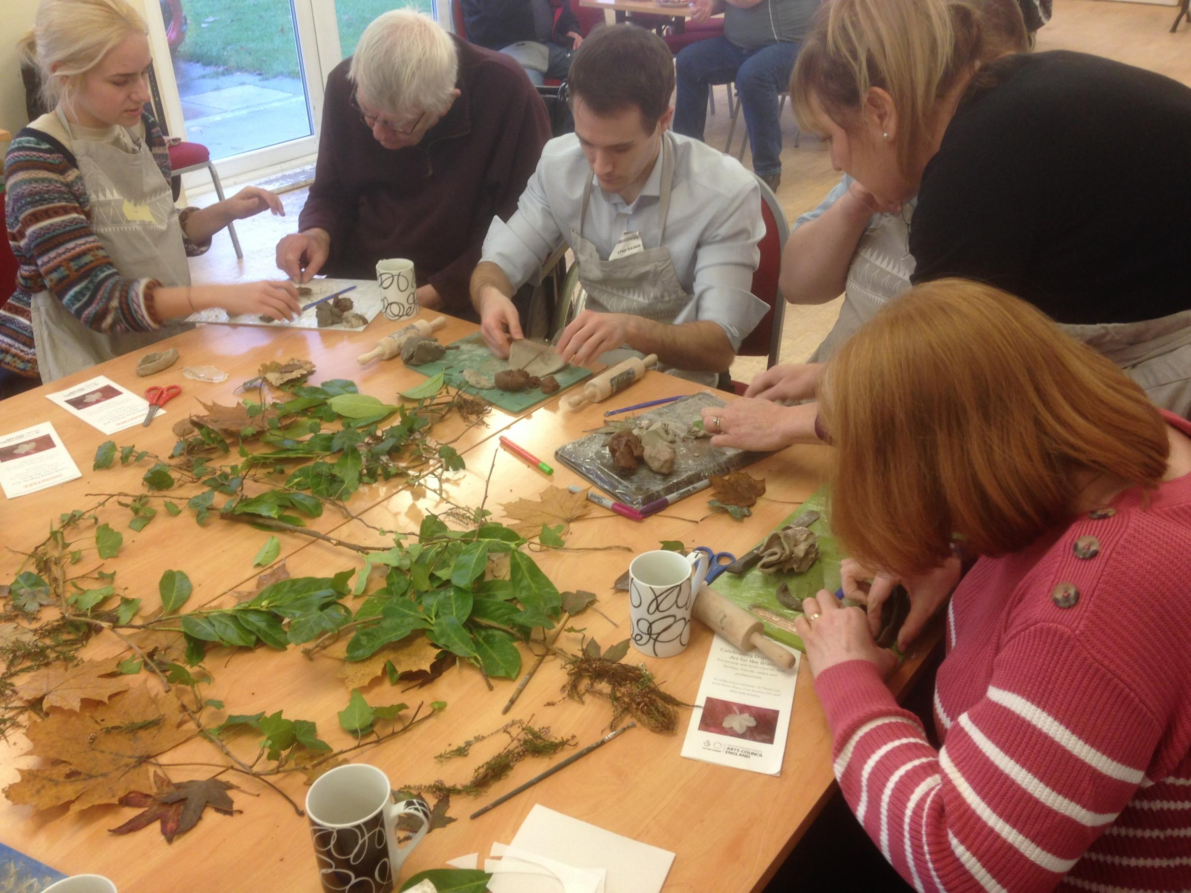 Dignitree art project. Creating the art instillation for Dignity Day at Bywell Hall.