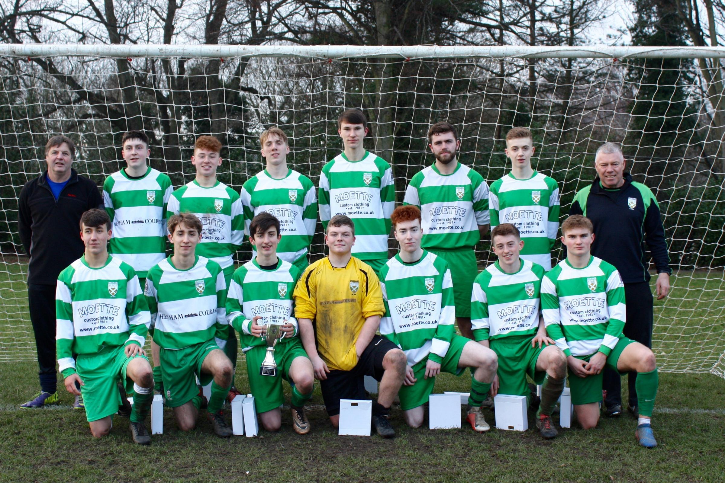 Hexham U18 have lifted silverware during their final season as junior players. They won the West Division Cup after defeating Corbridge 6-3.